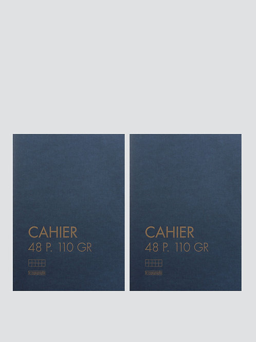 2 cahiers souples A5 petits carreaux