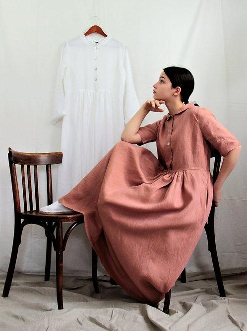 Robe Armony-Grace 100% lin Terracotta