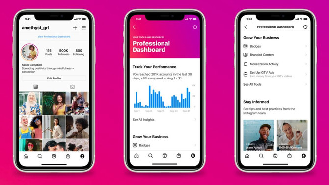 Instagram Launches Professional Dashboard for Creators Building Businesses.