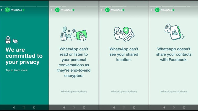 WhatsApp is using status to re-assure the privacy of the users
