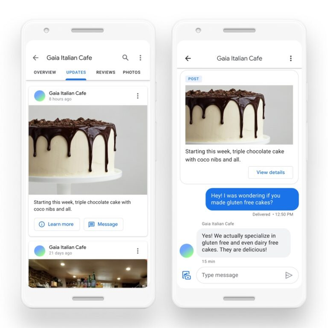 GOOGLE ROLLS OUT MESSAGING AND INSIGHTS TO GOOGLE MAPS & SEARCH