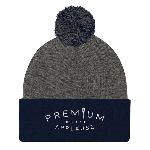 PremiumApplause Pom-Pom Beanie (Embroidered)