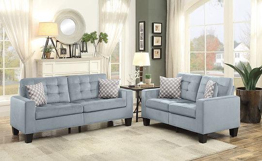 9957GY   Sofa & Love Seat Set