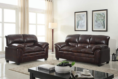 Parker-Brown Sofa and Loveseat Set
