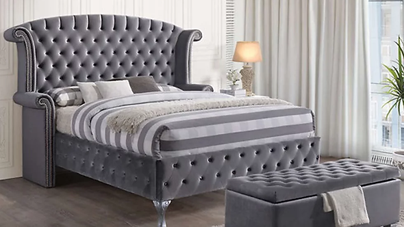 B2019 Sofia Gray Bed