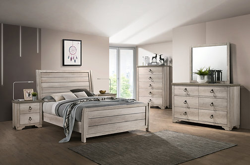 B3055 Patterson Sleigh Bedroom Suite, King or Queen, Full or Twin