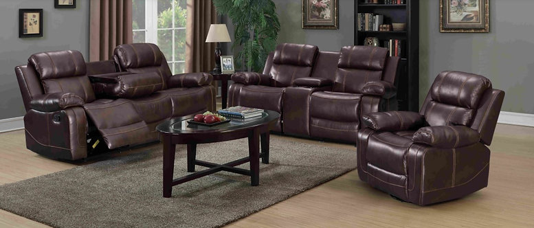 Samuel Brown 3pcs Recliner Sofa Set