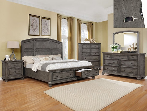 B1885 Lavonia Storage Bedroom Suite, King or Queen