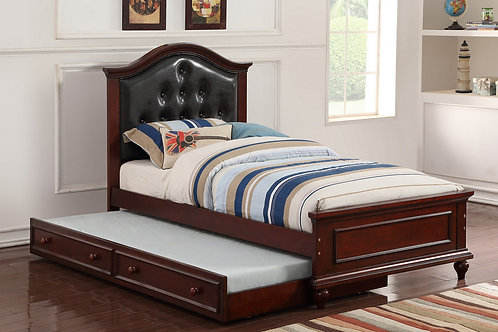 F9379 | TWIN BED W/TRUNDLE BLK