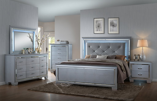 B7100 Lillian LED Bedroom Suite, King or Queen