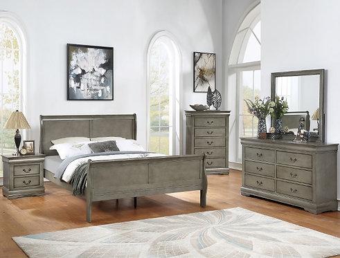 B3550 Louis Philip Bedroom Suite, King, Queen, Full or Twin