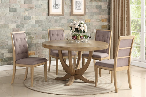 F2448/F1725 Oak Finish 5 Pc. Dining Table Set