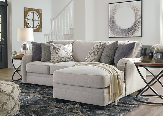 2 Piece Ashley 321 Chalk White Sectional