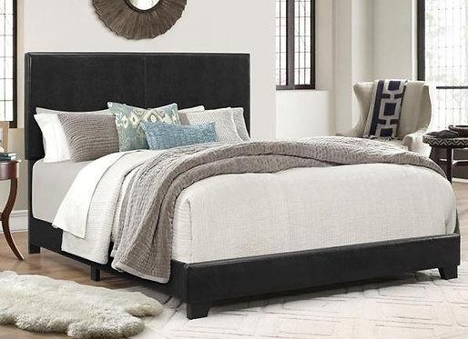 5271 Black Leather Bedframe