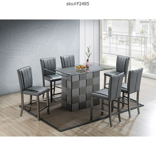 F2485 7PC COUNTER HEIGHT DINING SET
