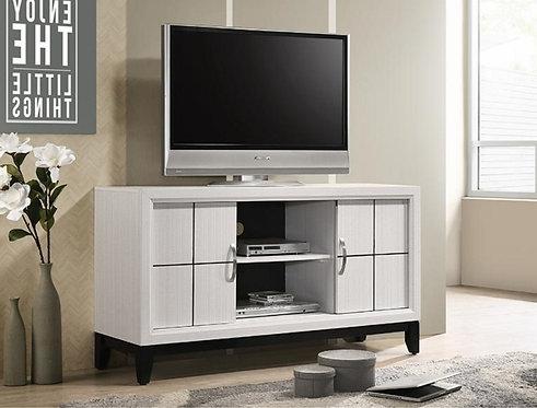 B4610-8 AKERSON TV STAND CHALK