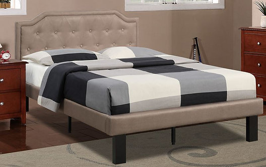 TWIN Tan Poly-fiber Bed Frame