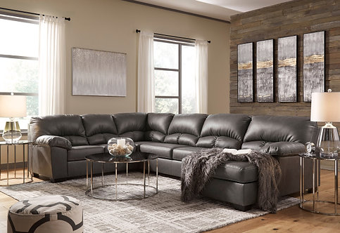 256 Gray Sectional
