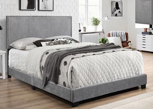 5271 Gray Velvet King Size Bedframe