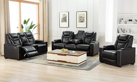 Echo - 3pc Power/Power Living Room Set (Black)