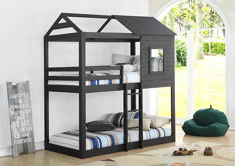 9066BK | Caleb Black Twin Over Twin Bunkbed