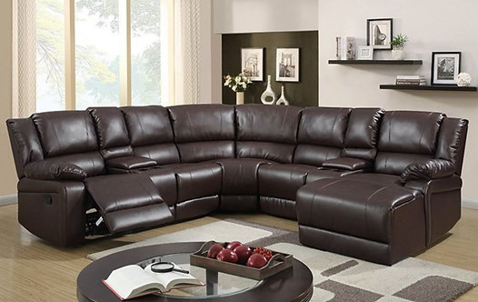 Sorrento Brown Recliner Sectional