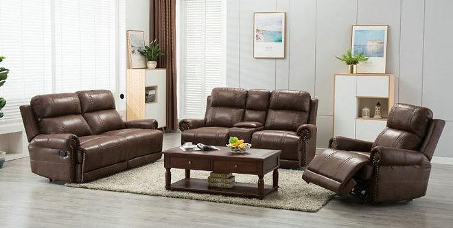 Austin 3pcs Recliners Sofa Set