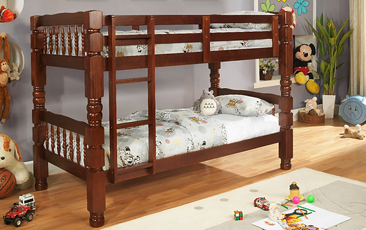 """527C - Solid Wood 4""""x4"""" Post Twin/Twin Bunk Bed"""