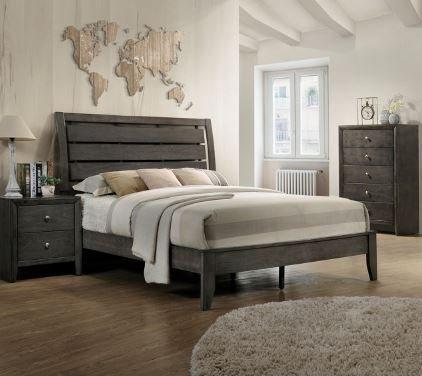 B4720 Evan Grey King Size Bed