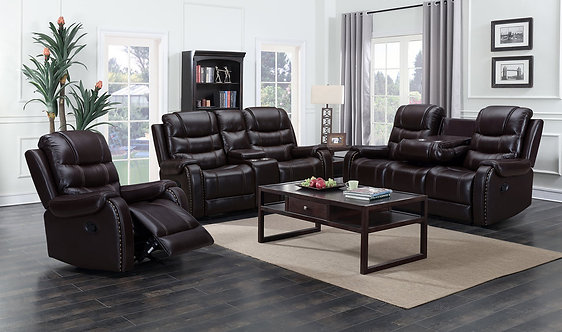 Paulo - Brown 3PC Reclining Set
