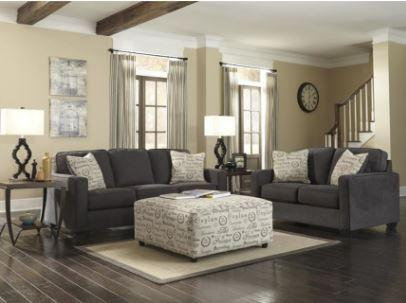 Ashley 166 Charcoal Sofa and Love Seat