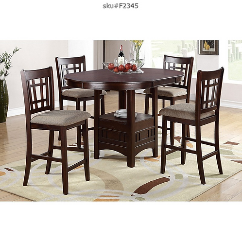 F2345 5PC ROUND COUNTER HEIGHT DINING SET