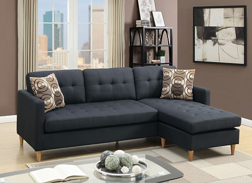 F7084 Ash Black Reversible Sectional
