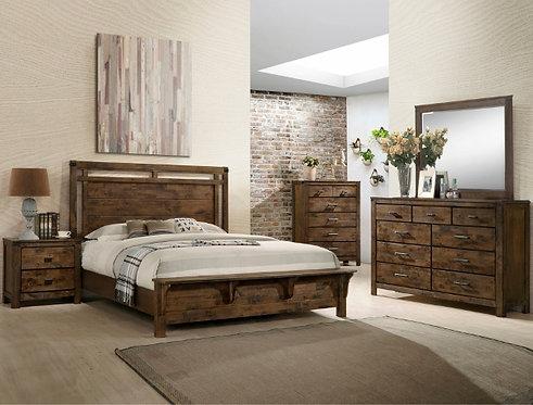 B4810 Curtis Panel Bedroom Suite, King or Queen