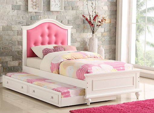 F9377 Pink Twin Bed W/Trundle