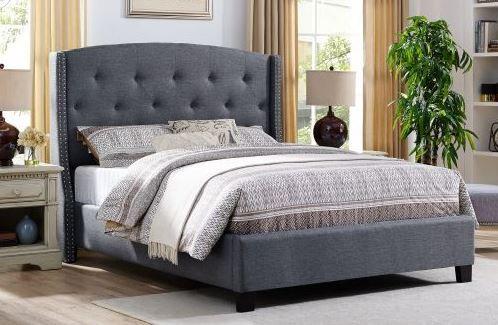 5111 Eva Grey King Size Bedframe