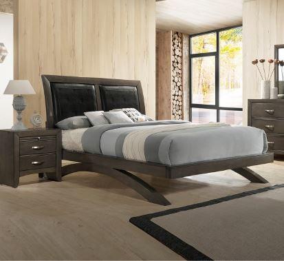 B4370 Galinda Grey King Size Bedframe