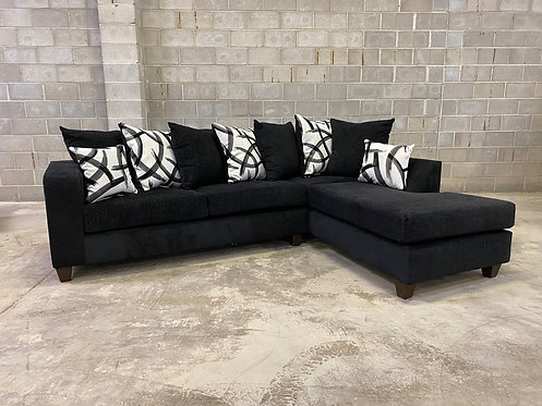 110 Black Sectional