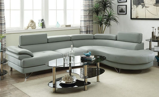F6984 2PC Light Grey Sectional
