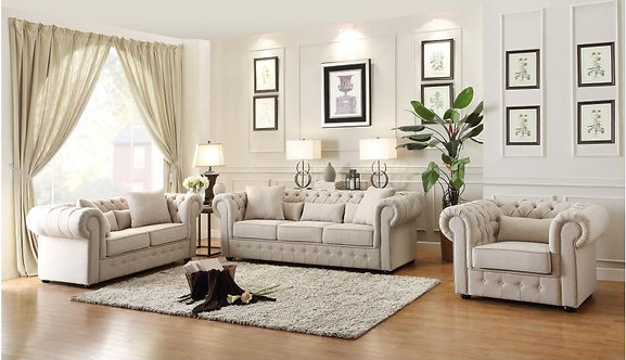 8427 | Natural Color Sofa, Love and Chair