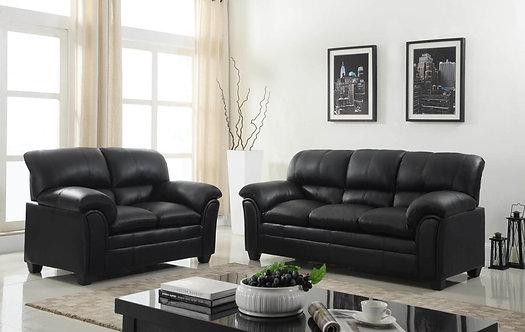 Parker-Black Sofa and Loveseat Set