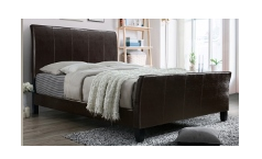 5281 Torry Espresso Leather King Size Bedframe