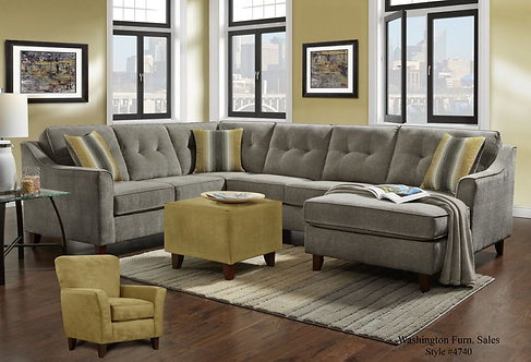 4740 Sydney Gray Sectional