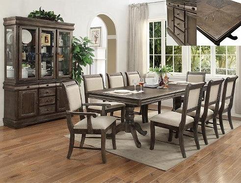 2147 Merlot Grey 9pc Dining Set