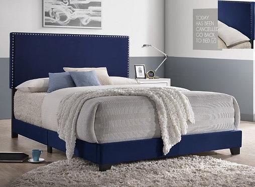 5271 Navy Velvet King Size Bedframe