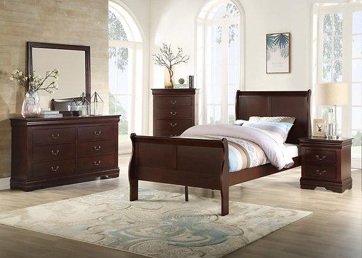 B3850 Louis Philip Bedroom Suite, King, Queen, Full or Twin