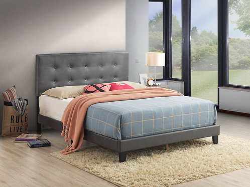 5282 Andi Platform Bed Adjustable Headboard Height,Grey