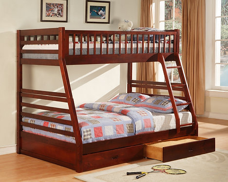 2129CH -Twin/Full Bunk Bed With Storage