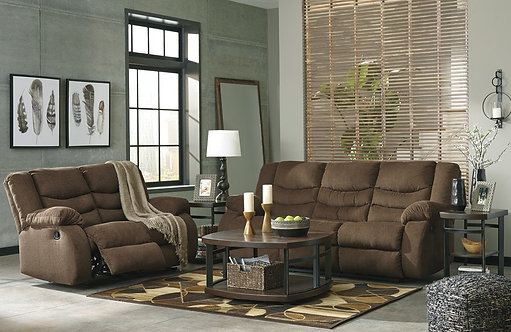 986 Brown Reclining Sofa, Reclining Love seat, Rocker Recliner