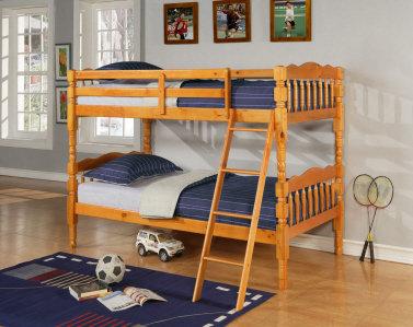 8132OAK - Twin/Twin Oak Bunk Bed